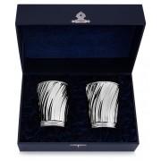 Пара серебряных бокалов для воды и вина «Венецианские»