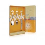 Серебряный детский набор «Звездочка» КД с ножом