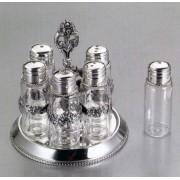 Серебряный набор для специй «Семейный» 6 предметов