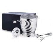 Серебряное ведерко для льда «Узорное»
